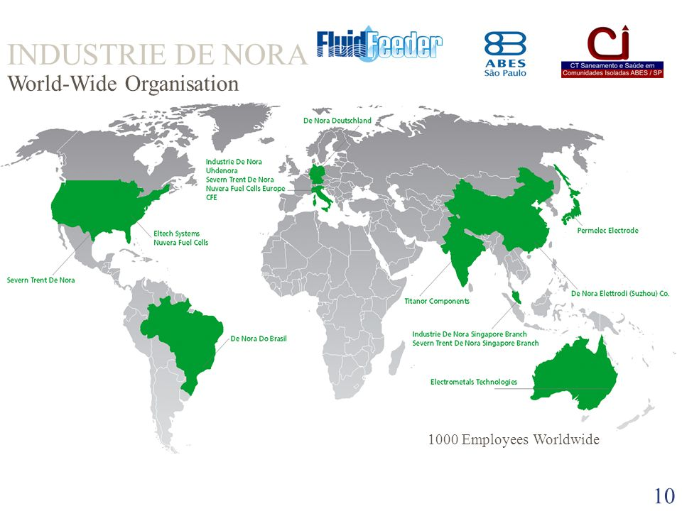 INDUSTRIE DE NORA World-Wide Organisation
