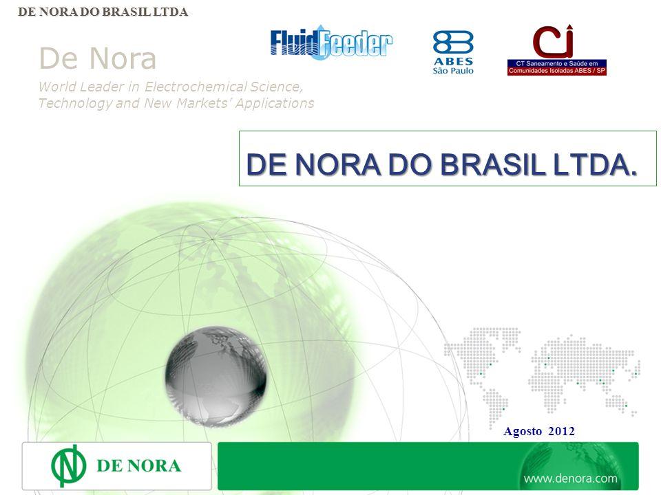 DE NORA DO BRASIL LTDA. De Nora DE NORA DO BRASIL LTDA