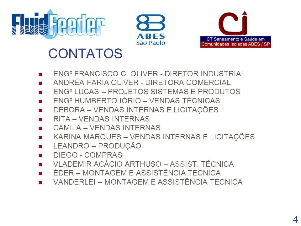 CONTATOS ENGº FRANCISCO C. OLIVER - DIRETOR INDUSTRIAL