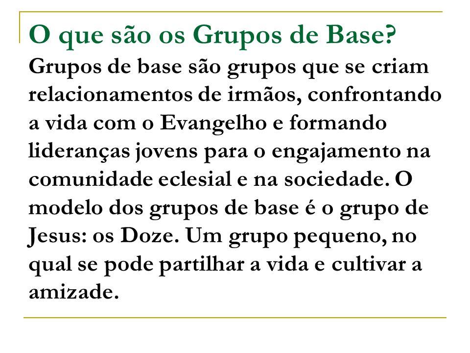 O que são os Grupos de Base