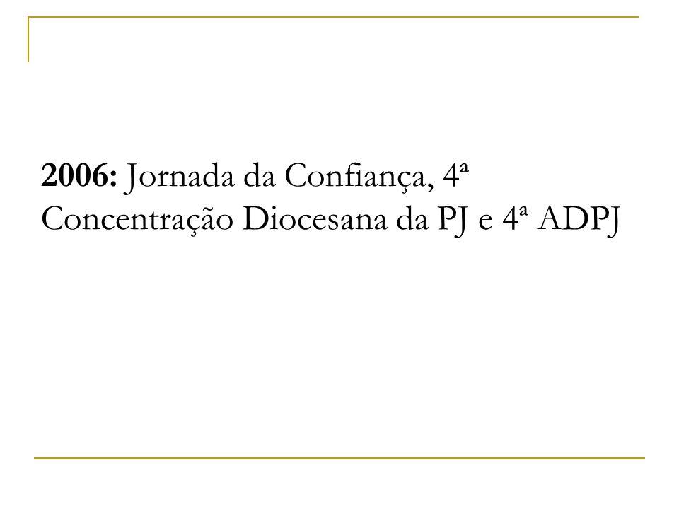 2006: Jornada da Confiança, 4ª Concentração Diocesana da PJ e 4ª ADPJ