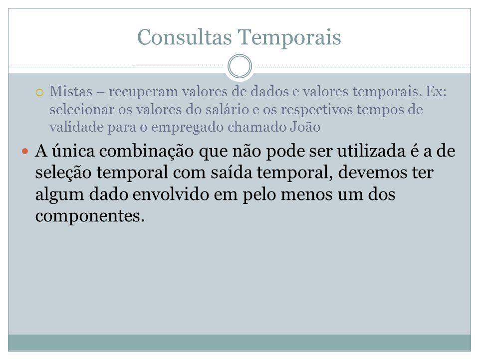 Consultas Temporais