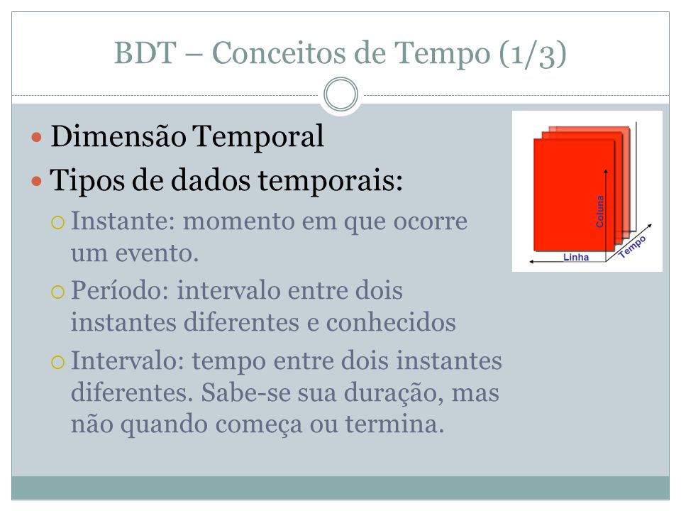 BDT – Conceitos de Tempo (1/3)