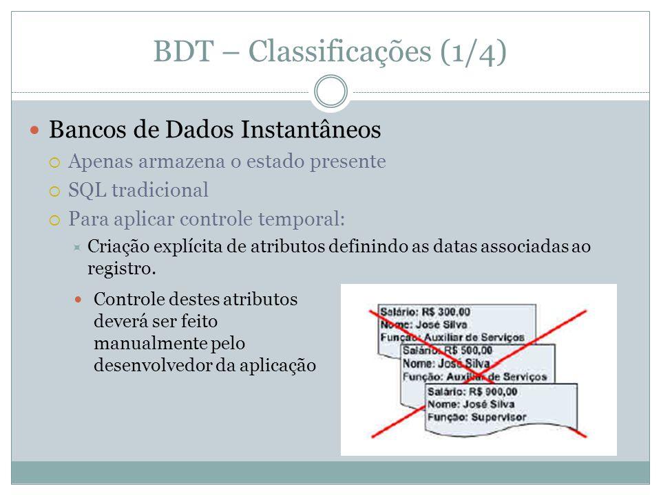 BDT – Classificações (1/4)