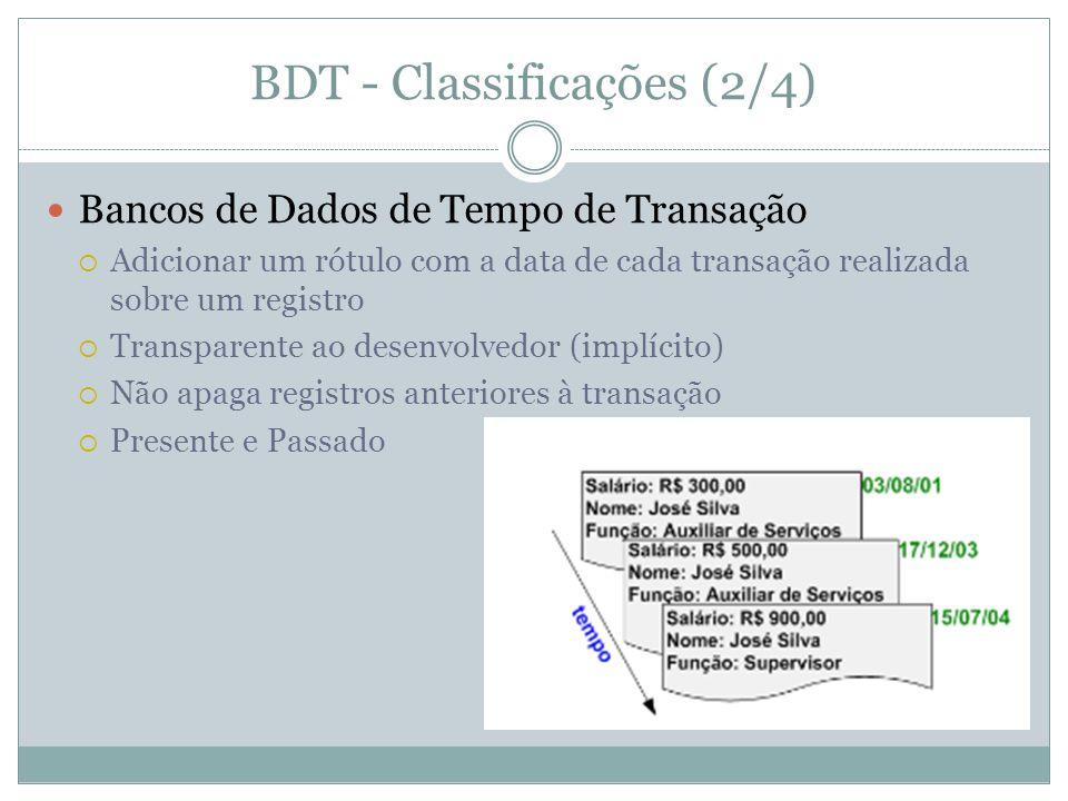 BDT - Classificações (2/4)