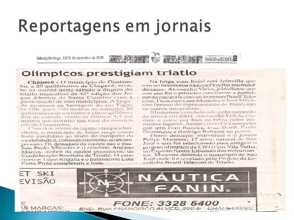 Reportagens em jornais