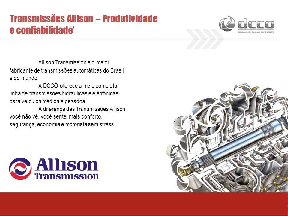 Transmissões Allison – Produtividade e confiabilidade'