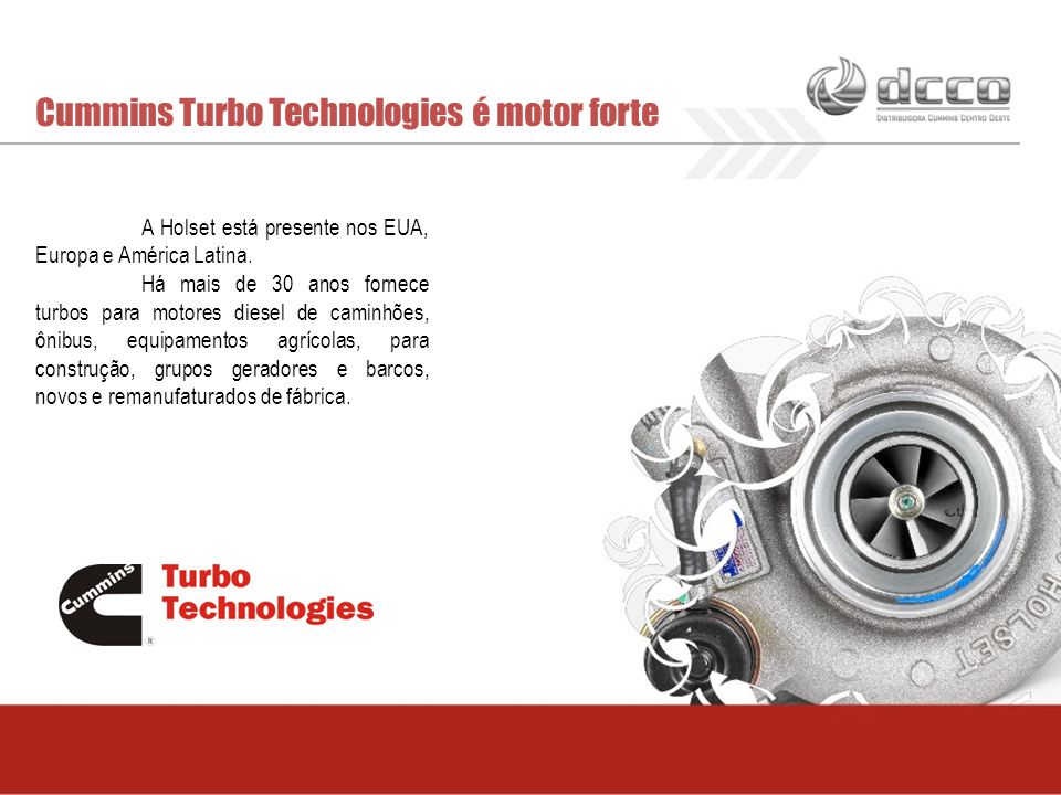 Cummins Turbo Technologies é motor forte