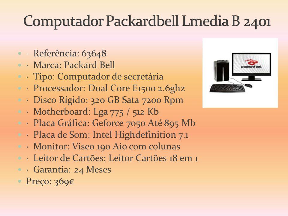 Computador Packardbell Lmedia B 2401