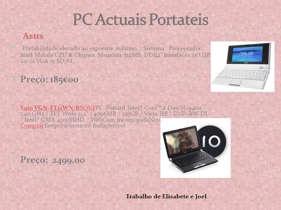 PC Actuais Portateis Asus