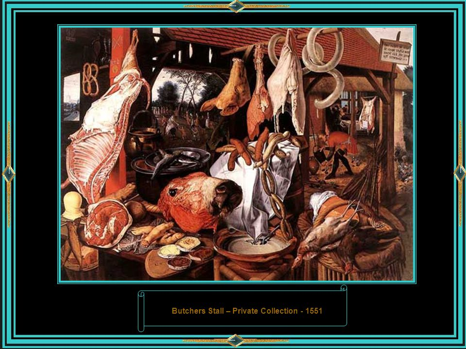 Butchers Stall – Private Collection - 1551