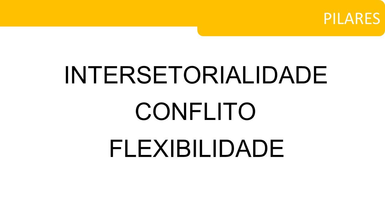 PILARES INTERSETORIALIDADE CONFLITO FLEXIBILIDADE