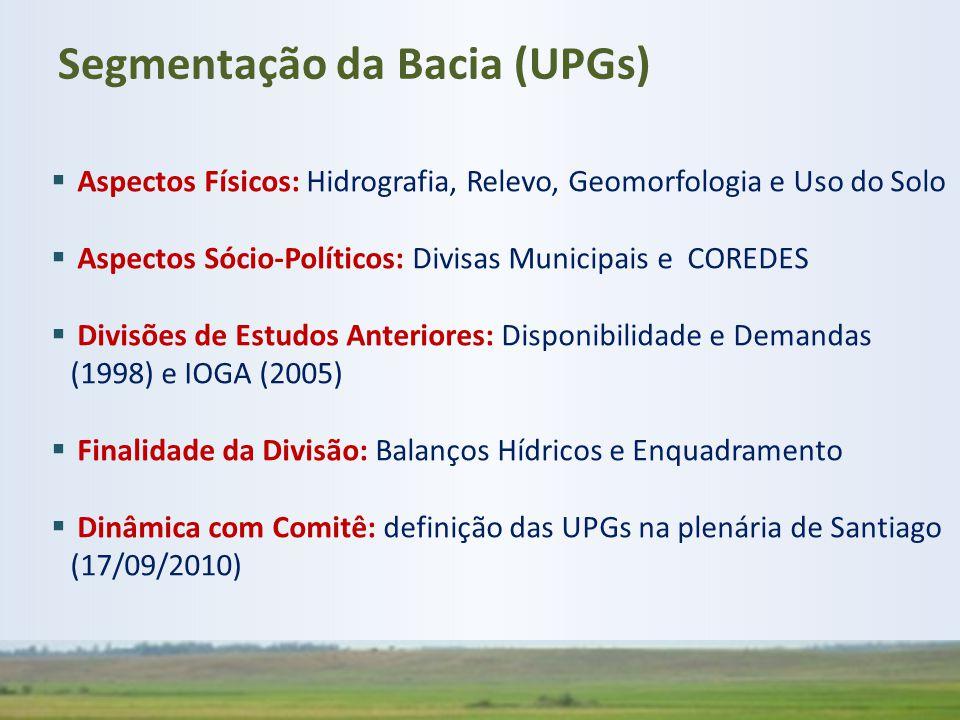 Segmentação da Bacia (UPGs)