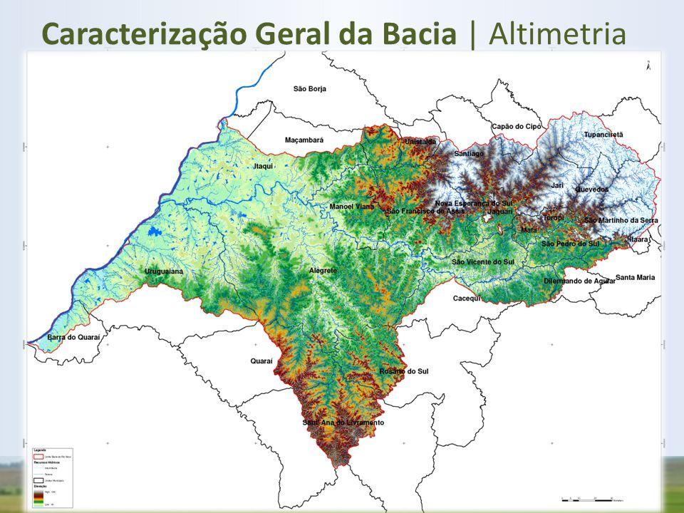 Caracterização Geral da Bacia | Altimetria