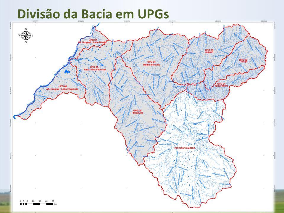 Divisão da Bacia em UPGs