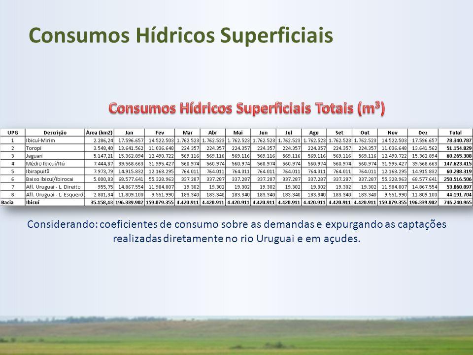 Consumos Hídricos Superficiais