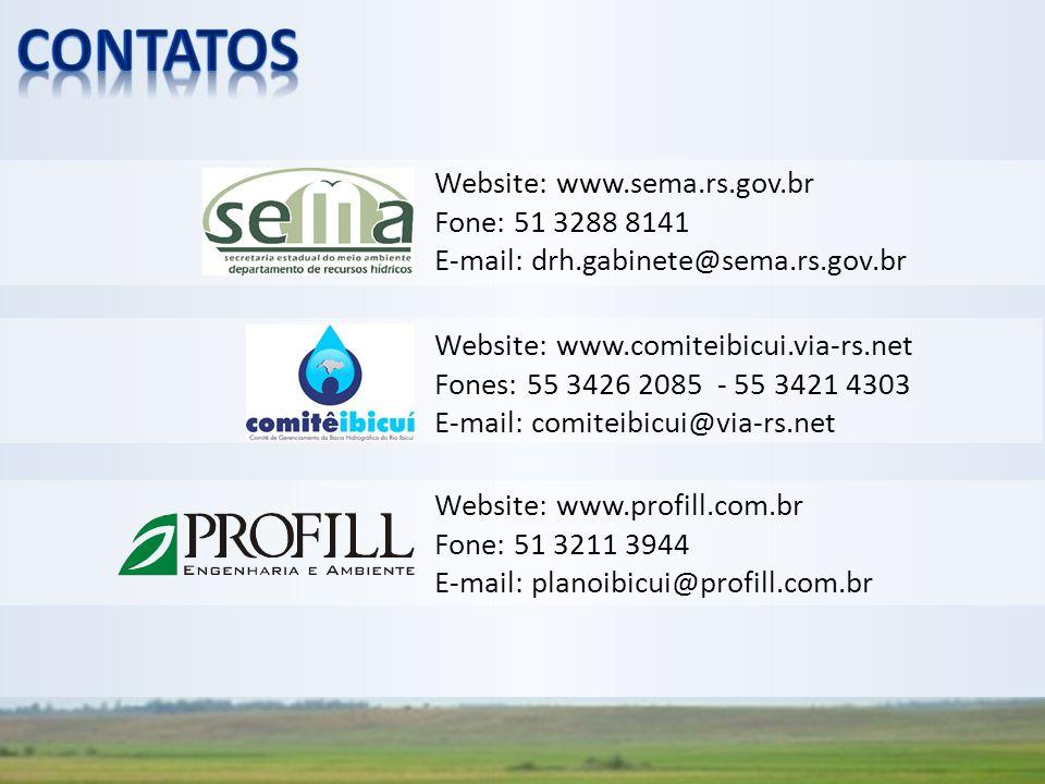 contatos Website: www.sema.rs.gov.br Fone: 51 3288 8141