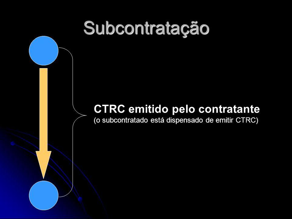 Subcontratação CTRC emitido pelo contratante