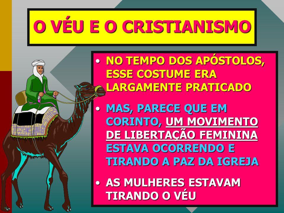 O VÉU E O CRISTIANISMO NO TEMPO DOS APÓSTOLOS, ESSE COSTUME ERA LARGAMENTE PRATICADO.