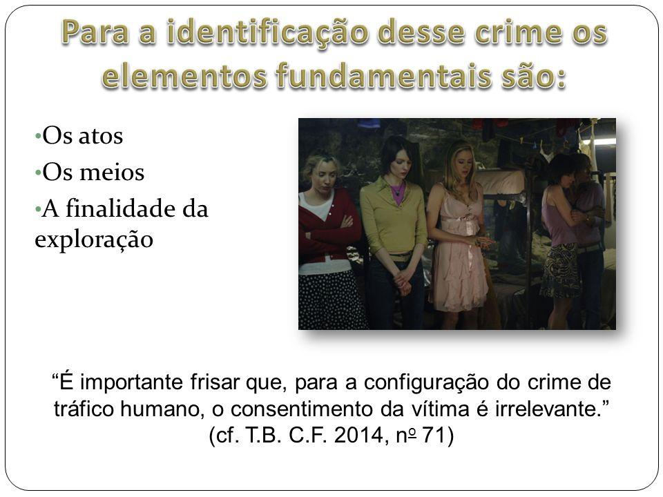 Para a identificação desse crime os elementos fundamentais são: