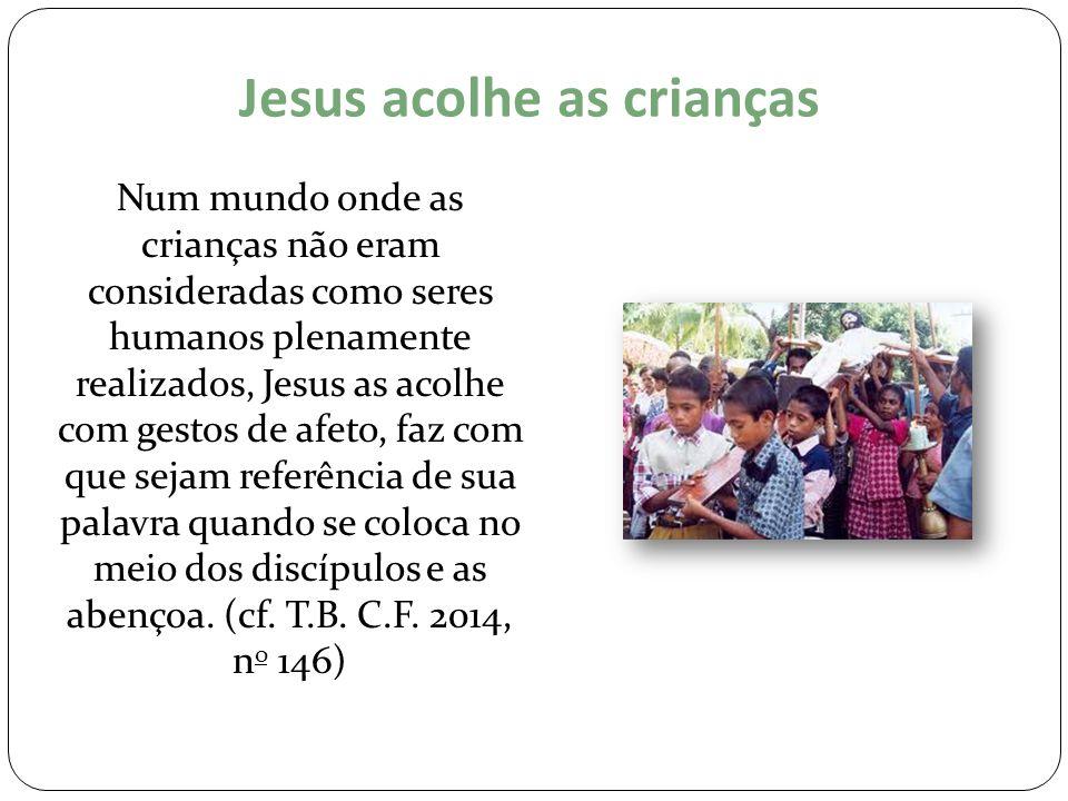 Jesus acolhe as crianças