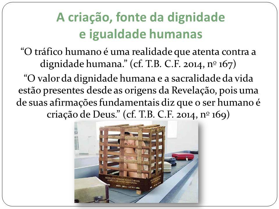 A criação, fonte da dignidade e igualdade humanas
