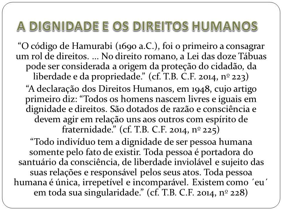 A DIGNIDADE E OS DIREITOS HUMANOS