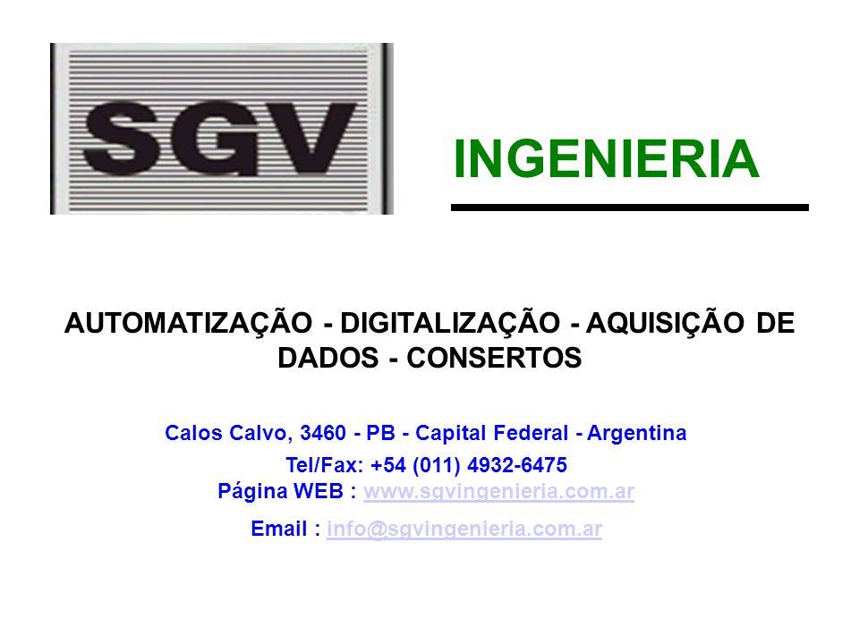 INGENIERIA AUTOMATIZAÇÃO - DIGITALIZAÇÃO - AQUISIÇÃO DE DADOS - CONSERTOS. Calos Calvo, 3460 - PB - Capital Federal - Argentina.