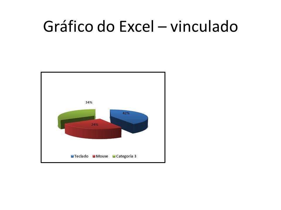 Gráfico do Excel – vinculado