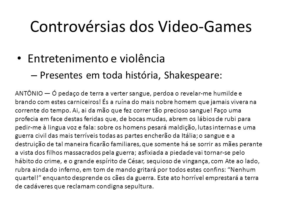 Controvérsias dos Video-Games