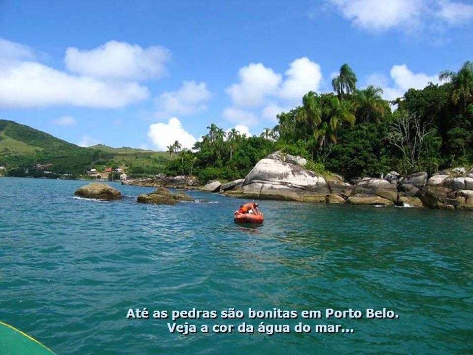 Até as pedras são bonitas em Porto Belo.