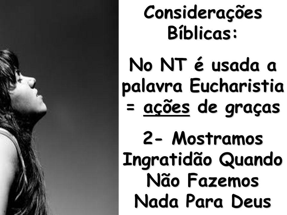 Considerações Bíblicas: