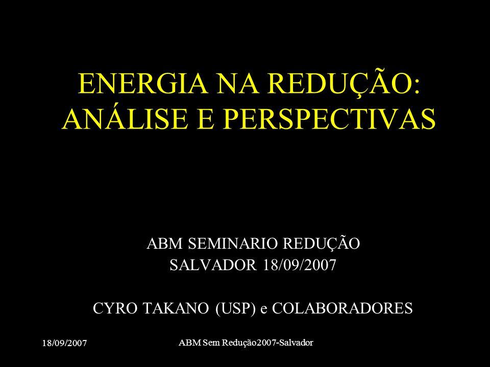 ENERGIA NA REDUÇÃO: ANÁLISE E PERSPECTIVAS