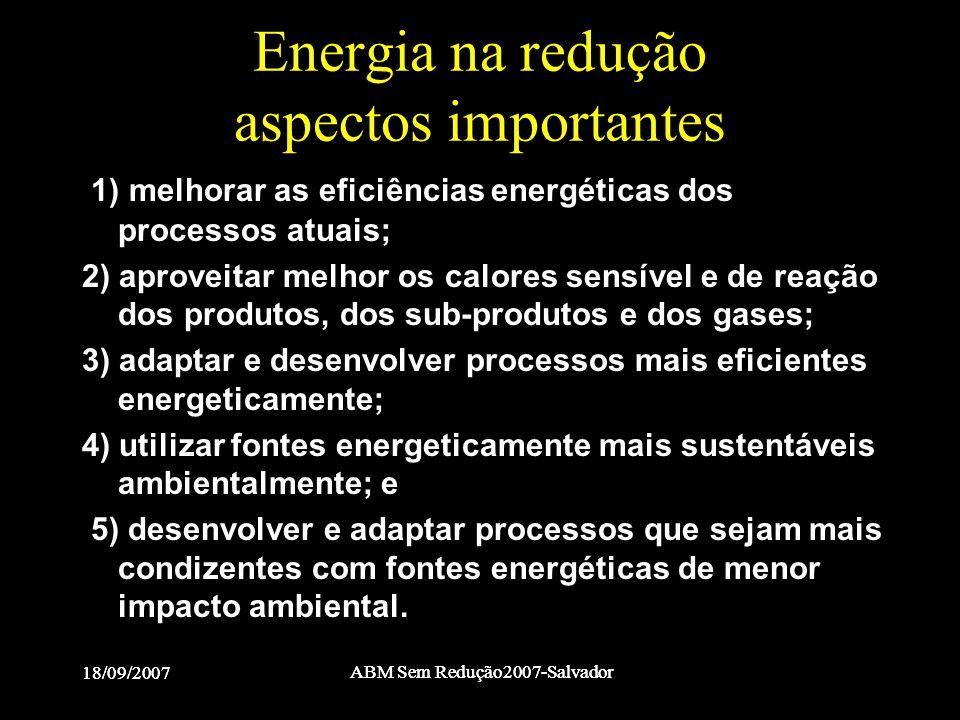 Energia na redução aspectos importantes