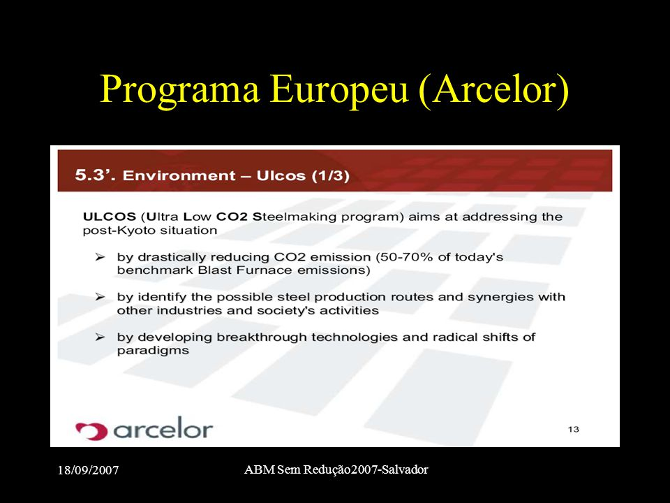 Programa Europeu (Arcelor)