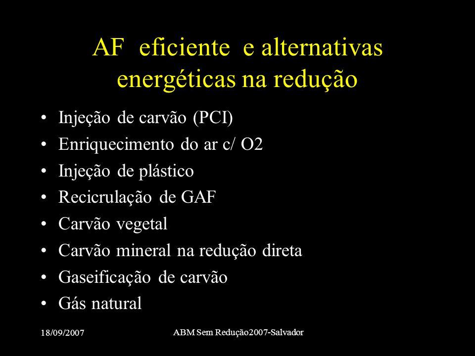 AF eficiente e alternativas energéticas na redução