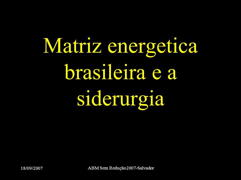 Matriz energetica brasileira e a siderurgia