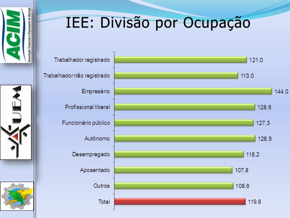 IEE: Divisão por Ocupação