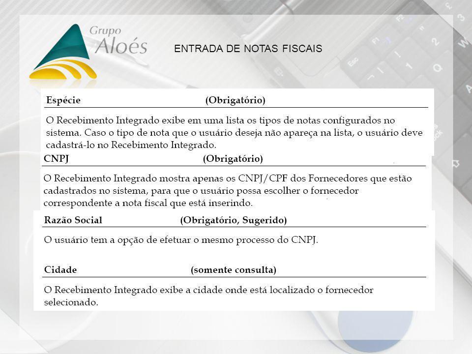 ENTRADA DE NOTAS FISCAIS