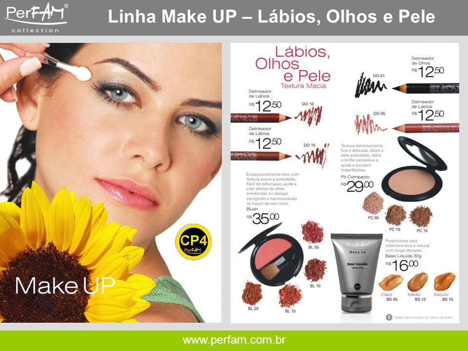 Linha Make UP – Lábios, Olhos e Pele