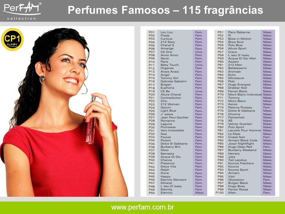 Perfumes Famosos – 115 fragrâncias