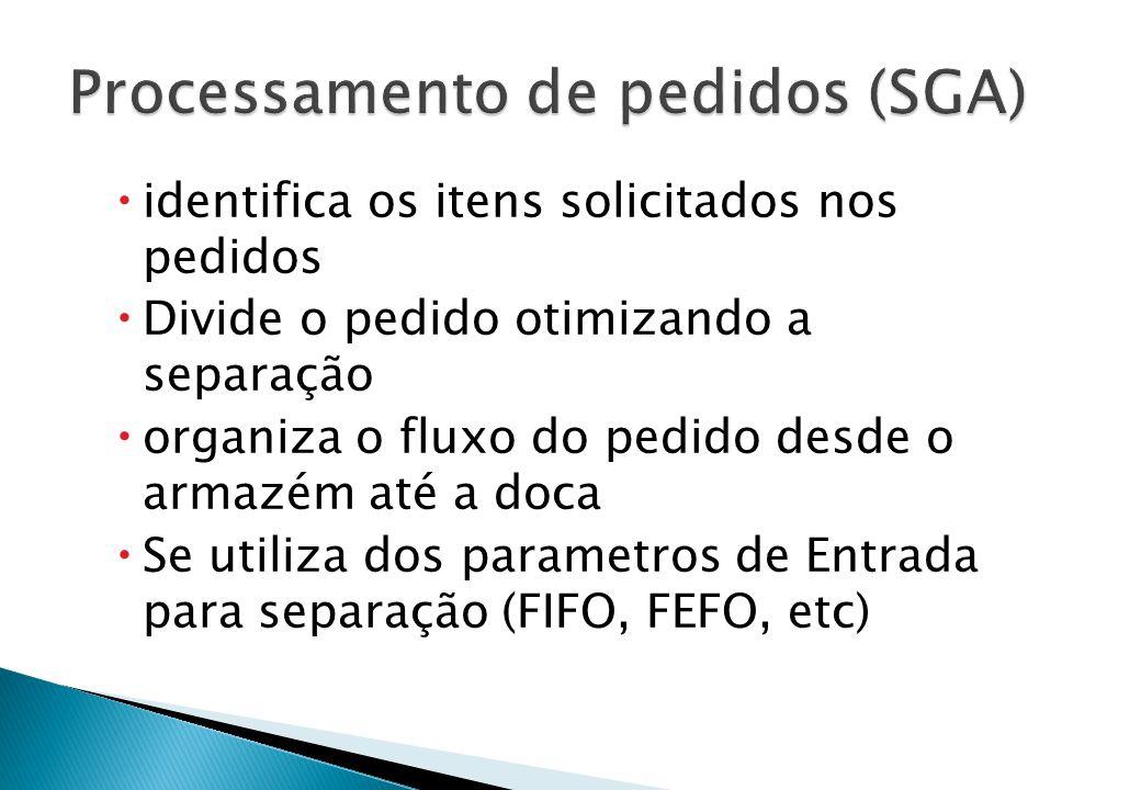 Processamento de pedidos (SGA)