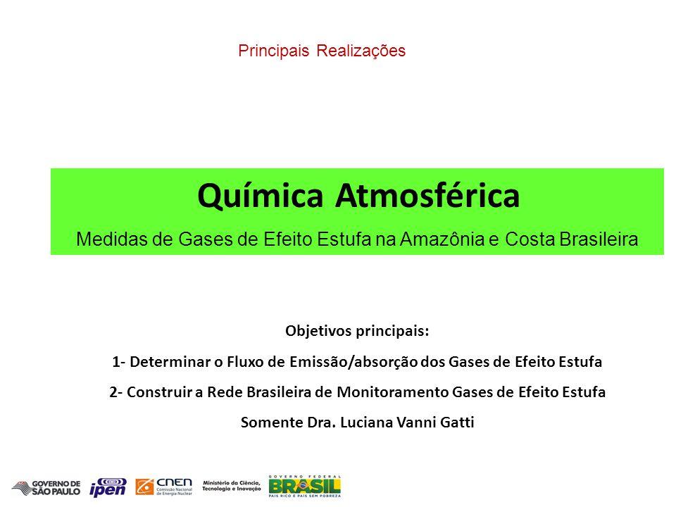 Medidas de Gases de Efeito Estufa na Amazônia e Costa Brasileira