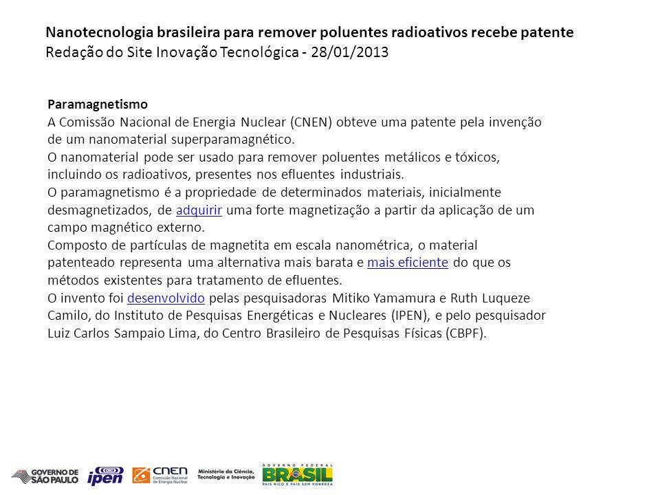 Redação do Site Inovação Tecnológica - 28/01/2013