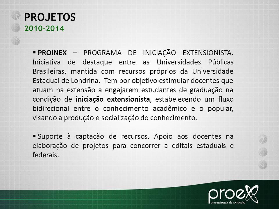 PROJETOS 2010-2014.