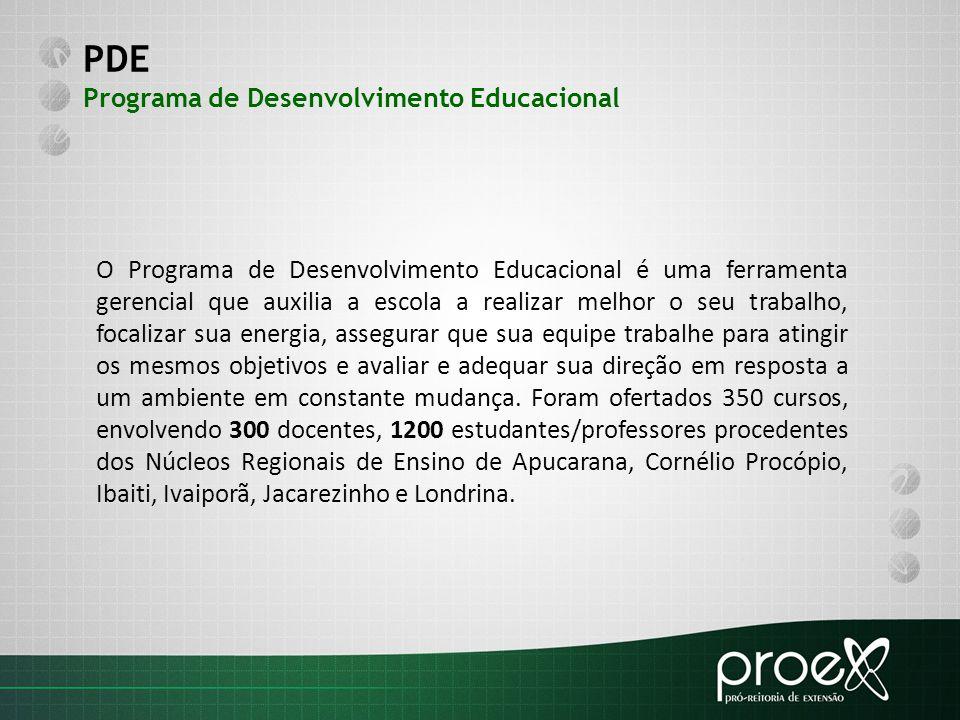 PDE Programa de Desenvolvimento Educacional