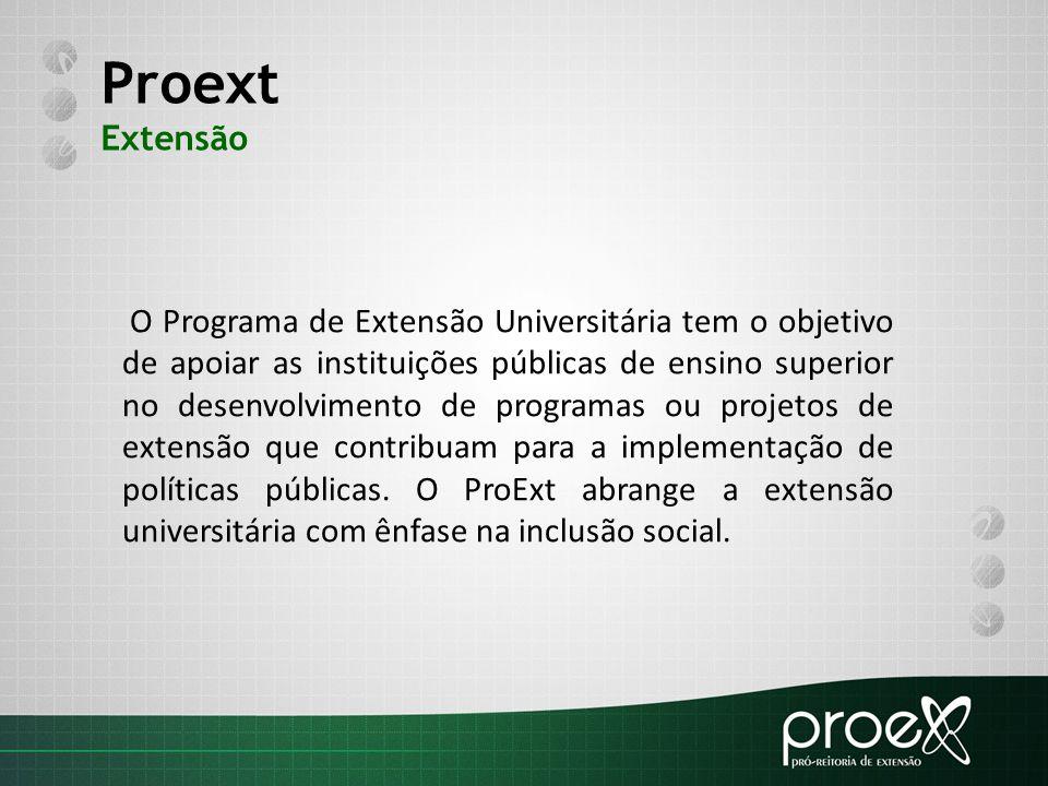 Proext Extensão.