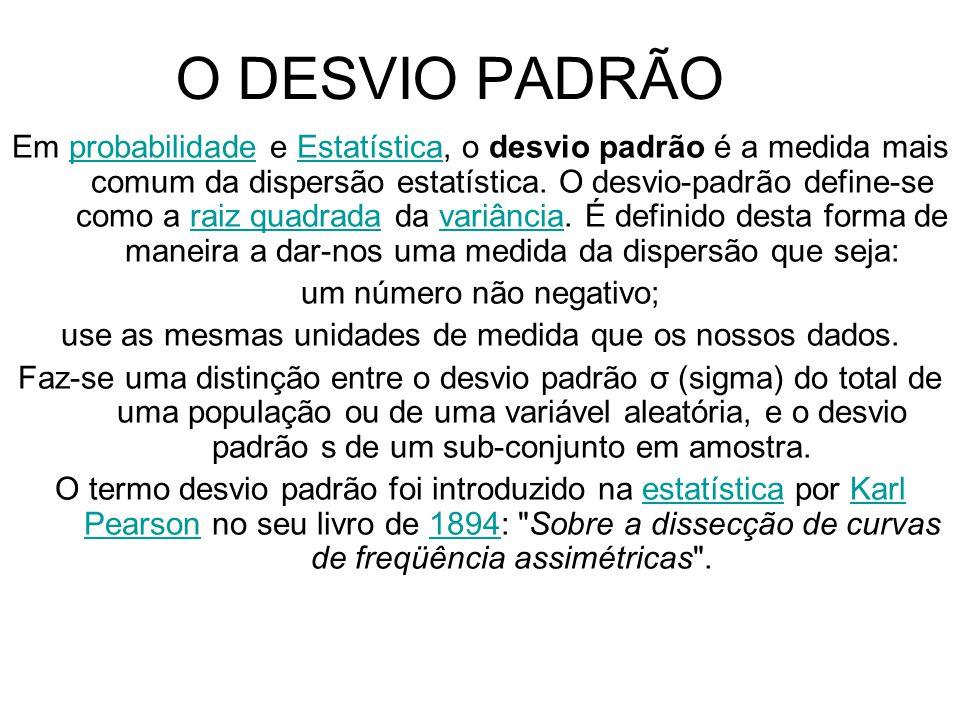 O DESVIO PADRÃO