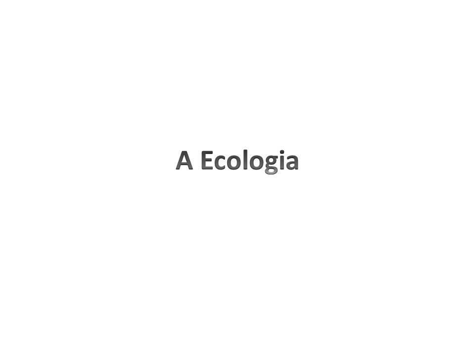 A Ecologia