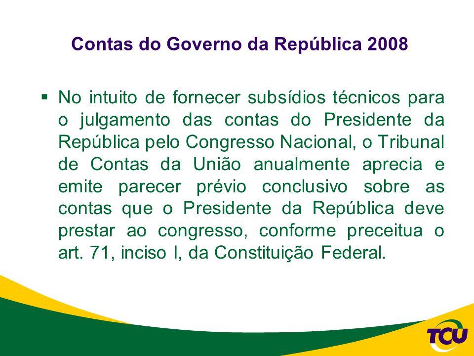 Contas do Governo da República 2008